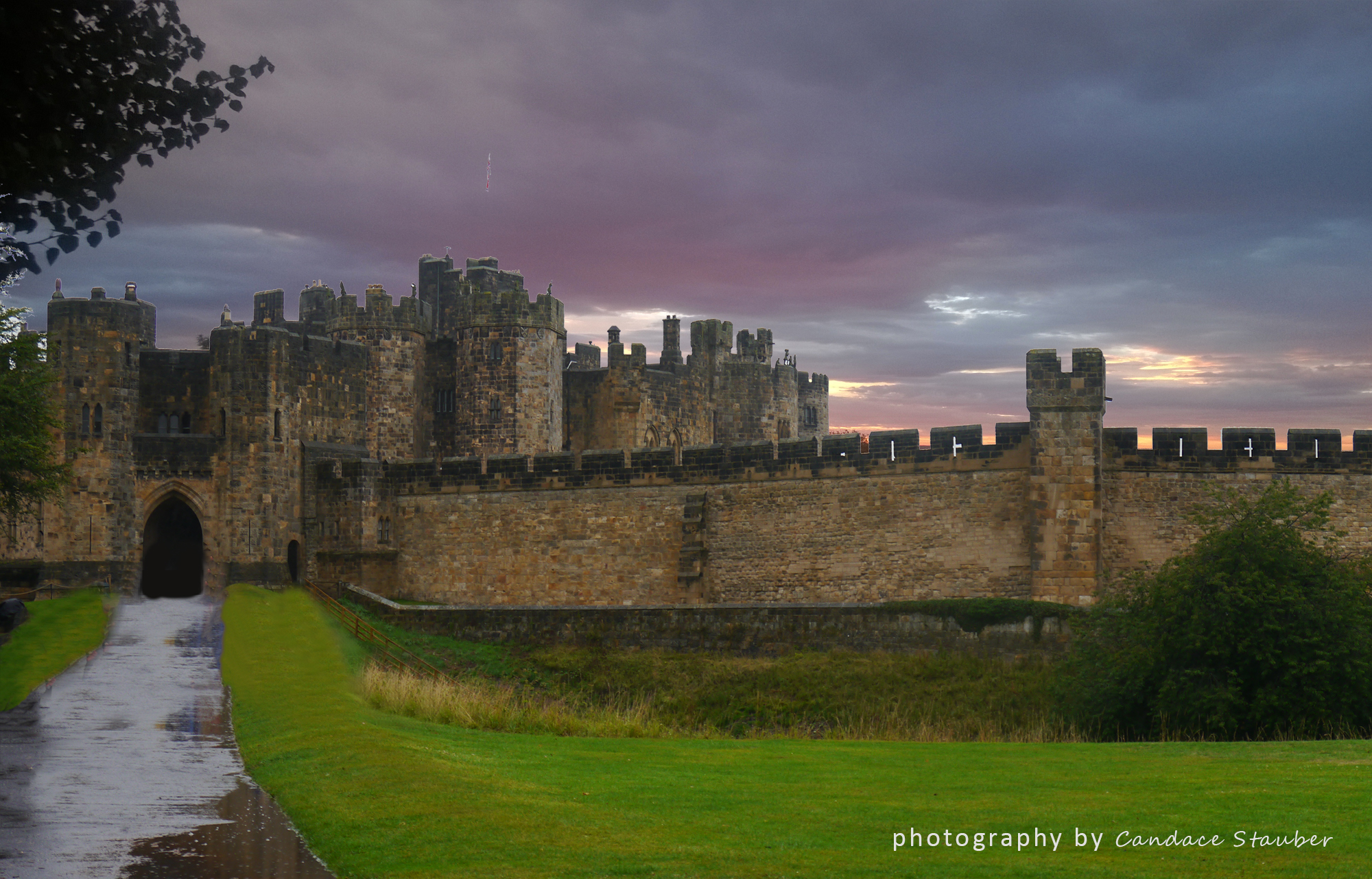 alnwickcastlecolorfulclouds