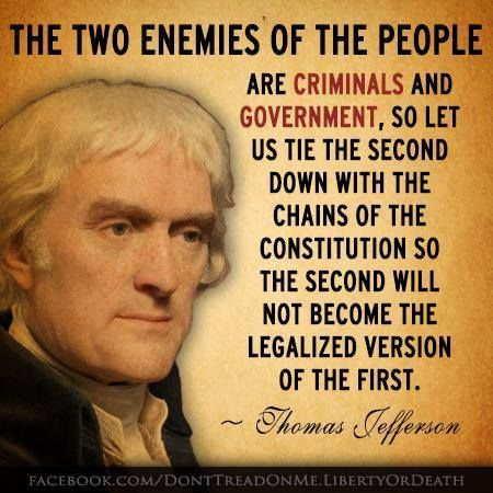 The two enemies of the people are criminals and the government